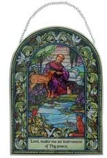Cathedral Art St. Francis Stained Glass Wall Hanging
