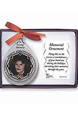 God Saw her Getting Tired Tear Shaped Photo Ornament