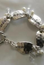 Howard's Inc Philippians 4:13 Scripture Toggle Bracelet