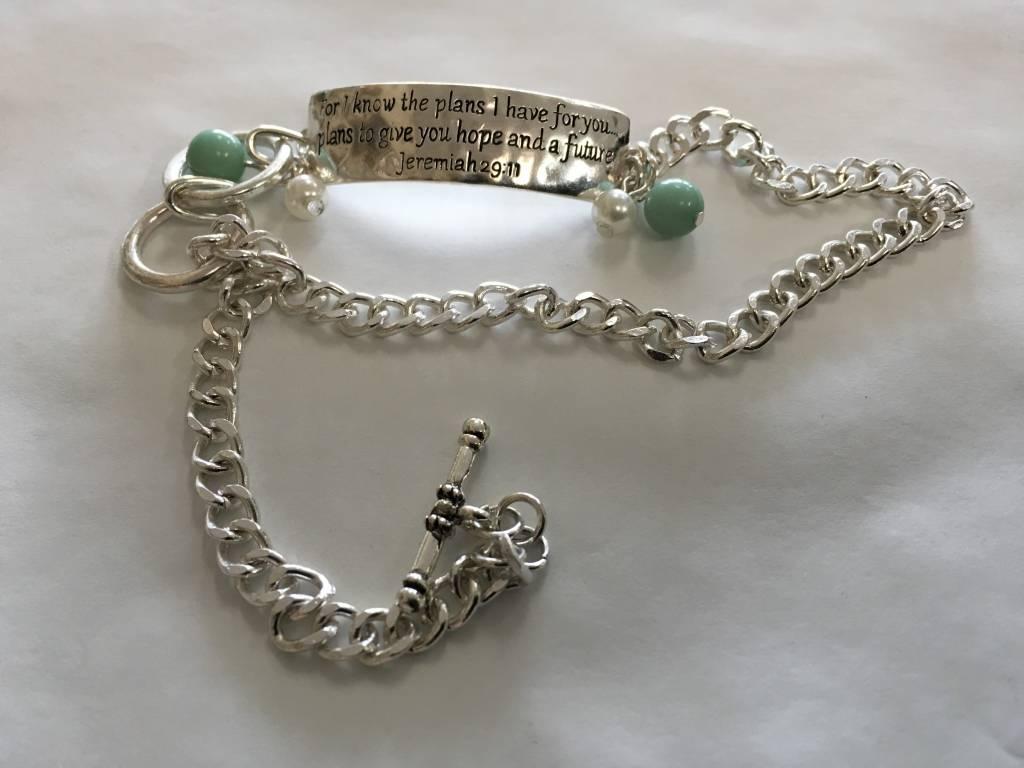 Howard's Inc Jeremiah 29:11 Chain Wrap Bracelet