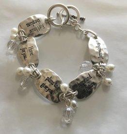 Howard's Inc Jeremiah 29:11 Scripture Toggle Bracelet