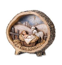 "Avalon Gallery 8.5"" Baby Jesus with Lamb Figurine"