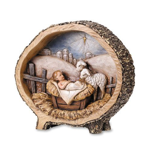 "Avalon Gallery 8.5"" Baby Jesus with Lamb Figurine"