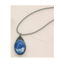 Mother & Child Cameo Pendant Necklace