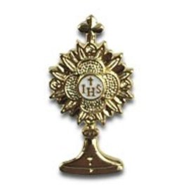 Wallace Brother manufacturing Small Monstrance Lapel Pin with Epoxy