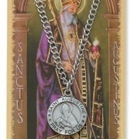McVan St. Augustine Necklace and Prayer Card Set