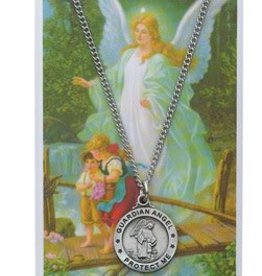 McVan Guardian Angel Necklace and Prayer Card Set