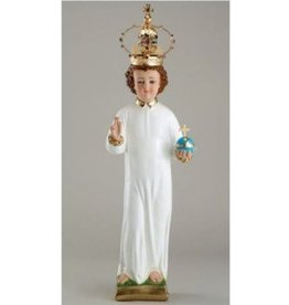 "Religious Art Inc 26"" Plaster Infant of Prague Statue Removable Crown"