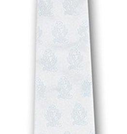 WJ Hirten White Satin Clip-on Communion Tie