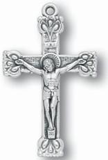 "1.5"" Silver Oxidized Fancy Crucifix"