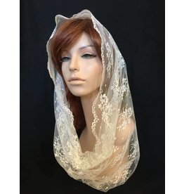 Beatrice Couture Hand-made Chantilly Lace Veil Infinity Scarf Various Colors