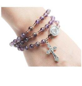 McVan Amethyst Twistable Rosary Bracelet
