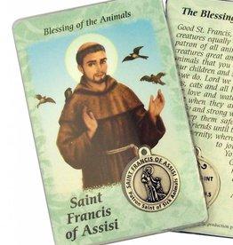 Lumen Mundi Healing Saint - St Francis Card with Medal