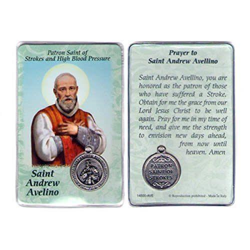 Lumen Mundi Healing Saint - St. Andrew Avelino Card with Medal