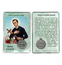 Lumen Mundi Healing Saint - St Gerard Card with Medal