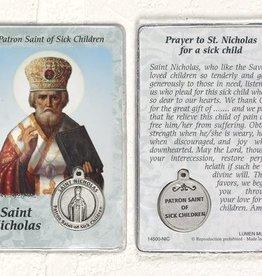 Lumen Mundi Healing Saint - St Nicholas Card with Medal