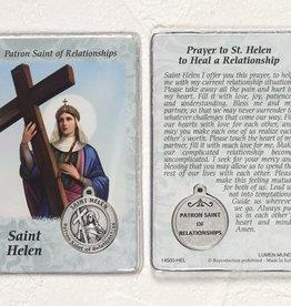 Lumen Mundi Healing Saint - St Helen Card with Medal