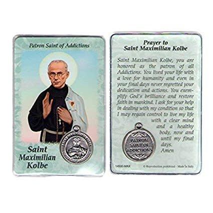 Lumen Mundi Healing Saint - St. Maximilian Kolbe Card with Medal