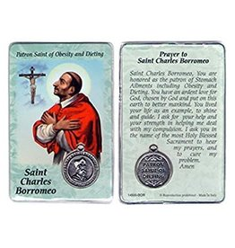Lumen Mundi Healing Saint - St. Charles Borromeo Card with Medal