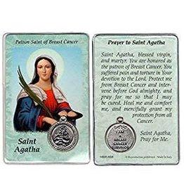 Lumen Mundi Healing Saint - St. Agatha Card with Medal