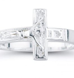 HMH Religious Sterling Silver Crucifix Ring - Size 5