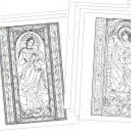 Sacred Art Coloring Portfolio Blessed Mother in Stained Glass