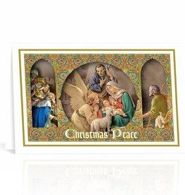 Nativity Scene Framed Images Christmas Cards Box Of 10