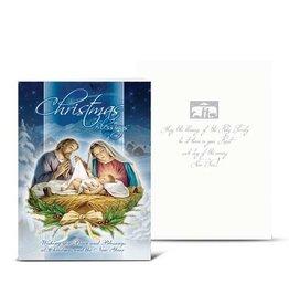 WJ Hirten Christmas Nativity Scene (Holy Family) Greeting Card