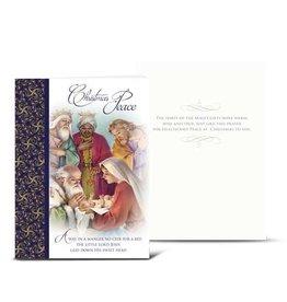 WJ Hirten Christmas Card With Holy Family And Magi