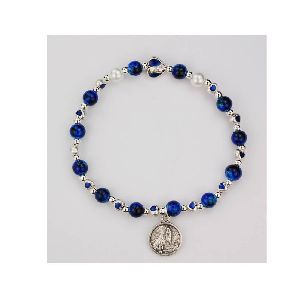 rosary lady of p lourdes lo our bracelet htm