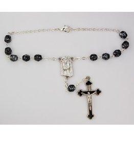 McVan Black Marble Ecco Homo Auto Rosary