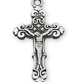 """McVan Sterling Silver Baby Crucifix on 13"""" Chain"""