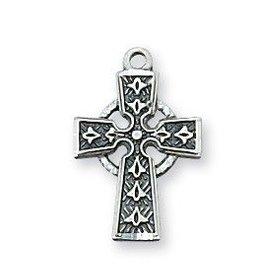 "McVan Sterling Silver Celtic Cross on 13"" Chain"