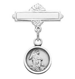 McVan Sterling Silver Guardian Angel Baby Pin