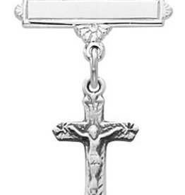 McVan Sterling Silver Crucifix Baby Pin