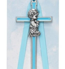 "McVan 3 1/2"" Blue Boy Crib Cross"