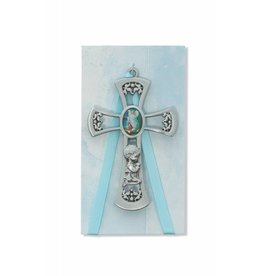 "McVan 3 3/4"" Guardian Angel Boy Blue Crib Cross"