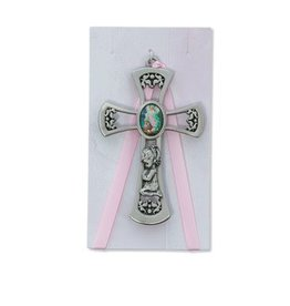 "McVan 3 3/4"" Guardian Angel Girl Pink Crib Cross"