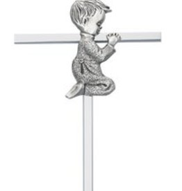 McVan Silver Boy Praying Cross