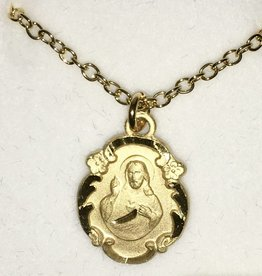 Devon Gold Filled Sacred Heart of Jesus Medal on Chain