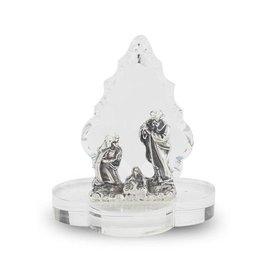 """WJ Hirten 1 1/2"""" Swarovski Crystal Nativity Tree"""