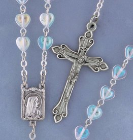 Devon Heart Shape Crystal Rosary