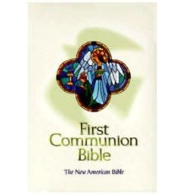 World Catholic Press First Holy Communion Bible - White