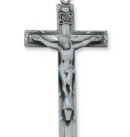 "McVan Antique Silver Crucifix 24"" Chain"