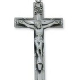 "McVan Antique Silver Crucifix with 24"" Chain"