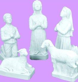 Space Age Plastics 5pc. Fatima Children with Sheep Set - White Finish