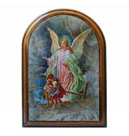 WJ Hirten Guardian Angel Wooden Arched Plaque