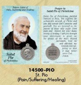 Lumen Mundi Healing Saint - St Pio of Pietrelcina Card with Medal
