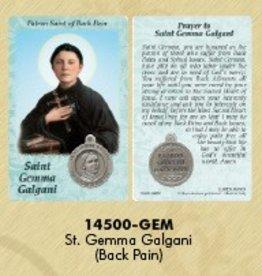 Lumen Mundi Healing Saint - St Gemma Galgani Card with Medal