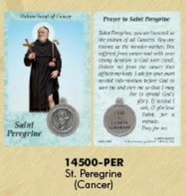 Lumen Mundi Healing Saint - St Peregrine Card with Medal